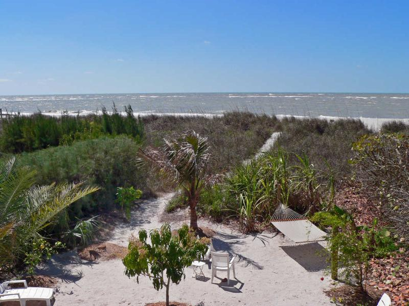 SPECTACULAR BEACH VIEWS from spacious porch - Beachfront House 4br/3ba +++Heated POOL+++SPA++PET - Treasure Island - rentals