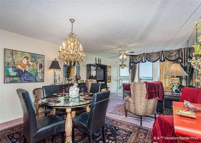 Our luxury living room has beautiful ocean views - SpyGlass 41 on Crescent Beach in St Augustine Florida - Saint Augustine - rentals