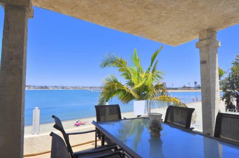 Bay View looking southeast - MISSION BAY GETAWAY, RIGHT ON THE BAY,  3 BD 2 BA - Pacific Beach - rentals