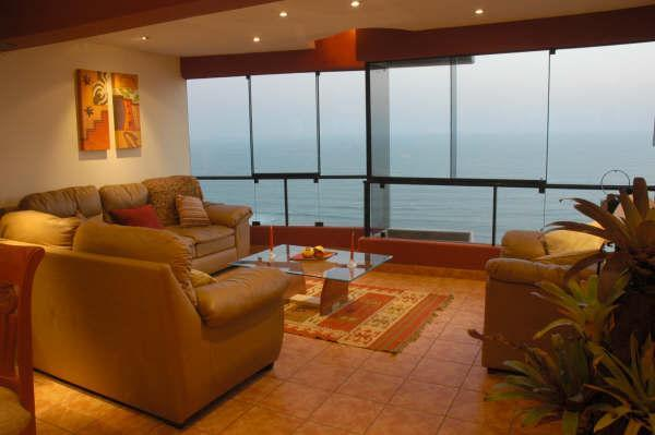 3 LEVEL PENTHOUSE WITH PRIVATE TERRACE,  WITH BEST OCEAN VIEW IN MIRAFLORES​​​,PE​R​U. - Image 1 - Lima - rentals