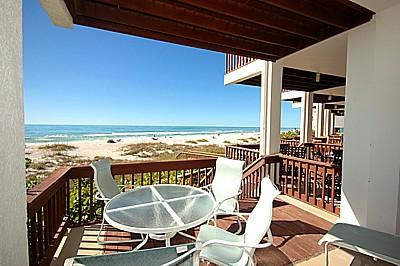 Sit back and relax.  Beach Access of this deck! - Hidden Cove Unit 1 - Holmes Beach - rentals