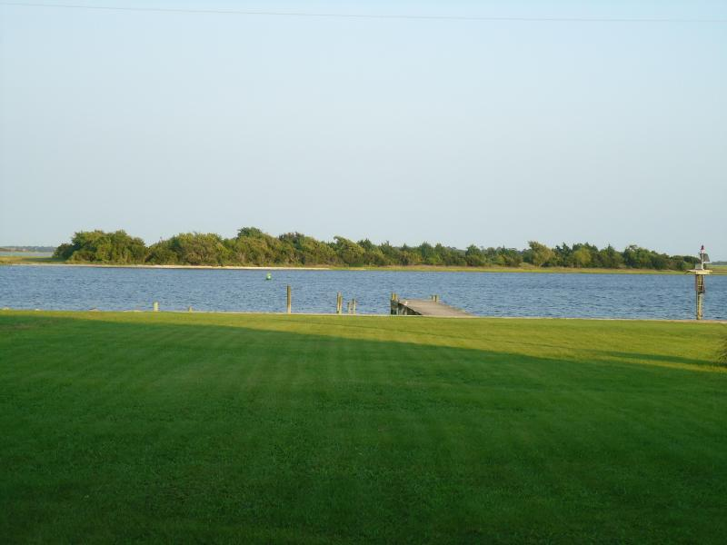 View of Intercoastal from front lawn - Swansboro, NC on the Inter-coastal waterway - Swansboro - rentals