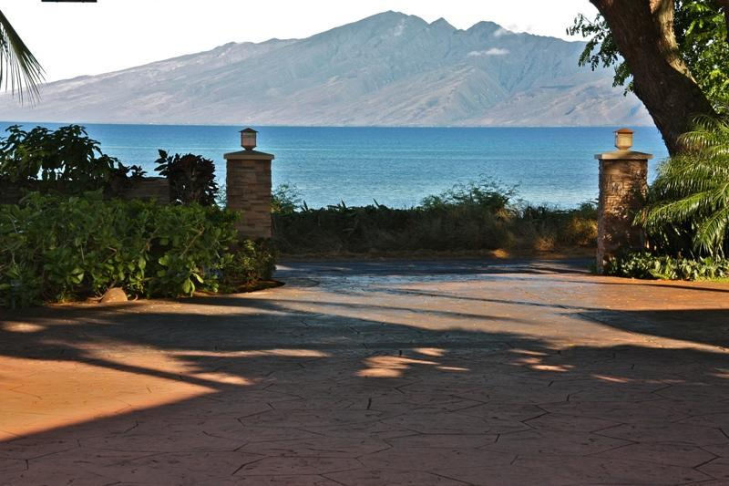 Molokai View from property entry - Beachfront Private Licensed Kahana B&B Estate - Lahaina - rentals