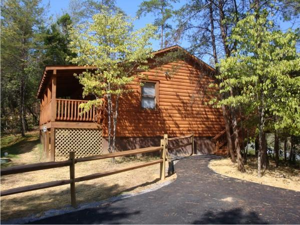View From Parking Area - Dancing Bears Genuine Log Cabins - Pigeon Forge TN - Pigeon Forge - rentals