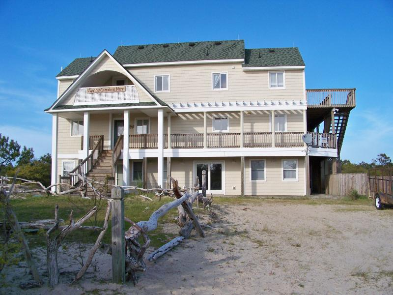 Welcome to SandyCheeks -Your home on the beach for the week! - Private Canal Front OBX Home Pet-Friendly Pool/Tub - Carova Beach - rentals