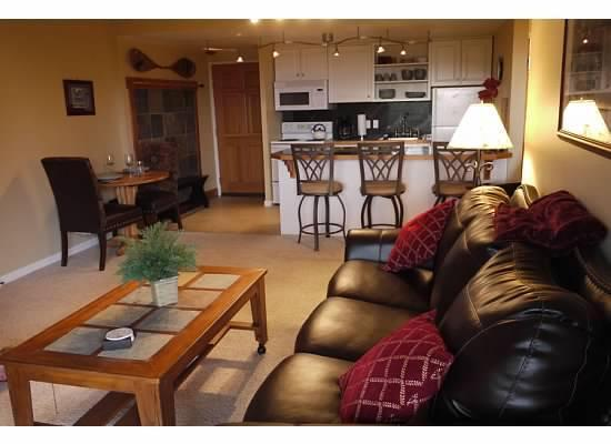 Living Room - Ski In/Ski Out! 3/22 wk $200/nt SALE! Walk 2 Town! - Breckenridge - rentals
