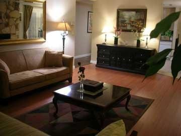 Living Room - LUXURY FURNISHED 3 bedroom 3 bath Condo Sleeps 9 - Santa Monica - rentals