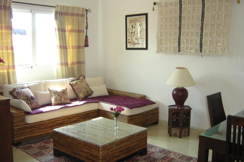 Living room - Gorgeous apartment with view of Atlas Mountains - Marrakech - rentals