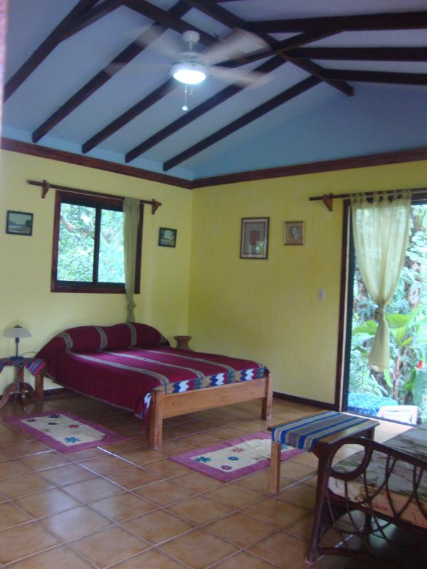 queen bed, cieling fans, sliding glass door to patio - Mango Street Casita, Drake Bay Town,Osa,Costa Rica - Drake Bay - rentals