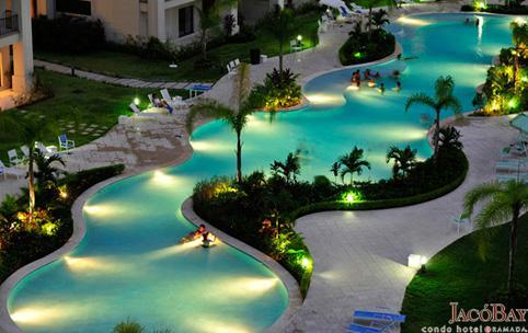 Pool at Night - Million $ View Affordable Well Located Safe Quiet - Jaco - rentals