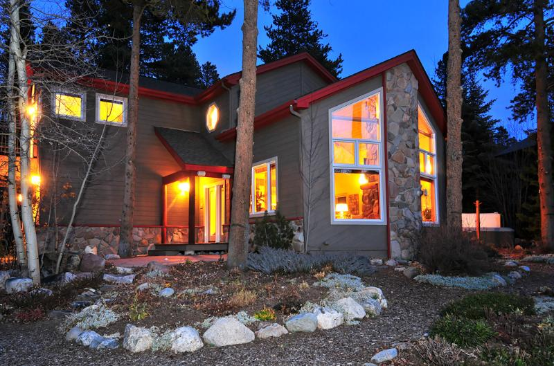 Exterior View at Dusk - 1498-67652 - Breckenridge - rentals