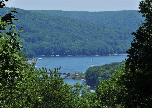 View - Astounding & secluded mountain chalet with lake views! - Oakland - rentals