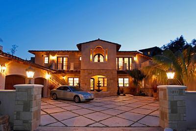 Motor Court and Grand Entrance - Large Luxury Montecito Estate, Full Ocean Views - Montecito - rentals