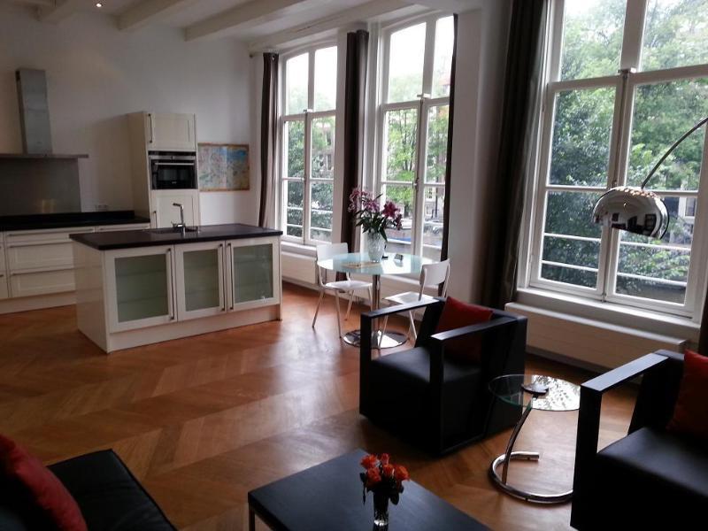 Singel 1 bedroom apt 3 living dining kitchen - Herenstraat Apartments Amsterdam - Amsterdam - rentals
