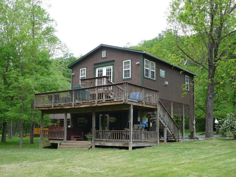 Cabin side view - Bear Valley River cabin on the Shenandoah River - Luray - rentals