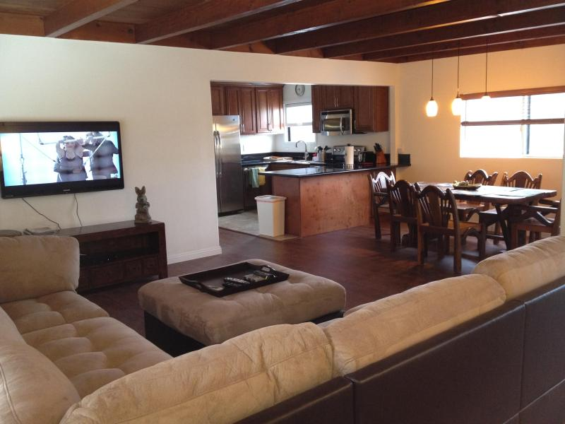 Living room, dining room, kitchen - Downtown Huntington Beach 3 Bedroom Upstairs Unit - Huntington Beach - rentals