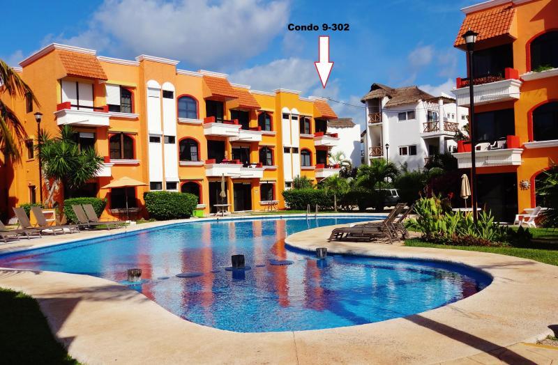 Quite corner unit - Beachfront Condo-Best Beach in Pto Morelos - Puerto Morelos - rentals