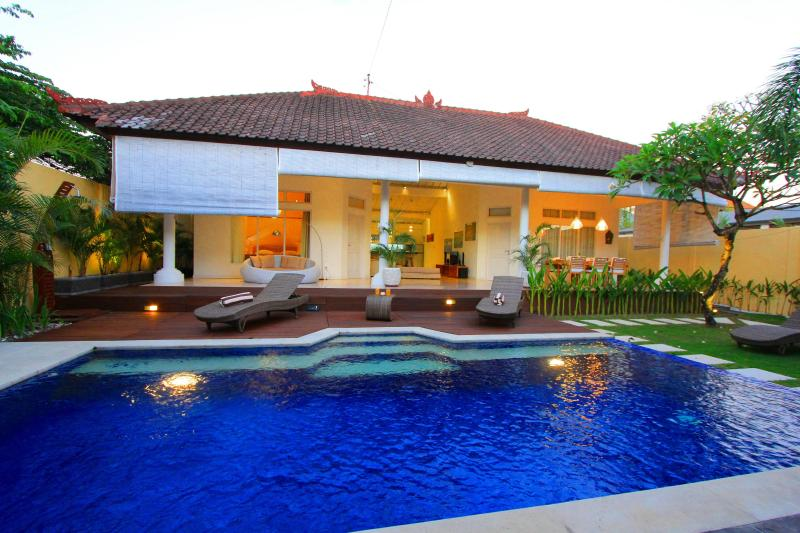 villa view at daytime - Villa at Seminyak, 5 min walk to beach - Seminyak - rentals