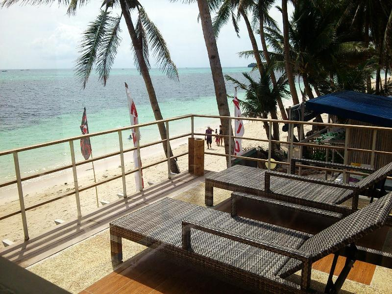 Deck view to right of beach - Absolute beachfront 2+1BR house in Boracay Island! - Boracay - rentals