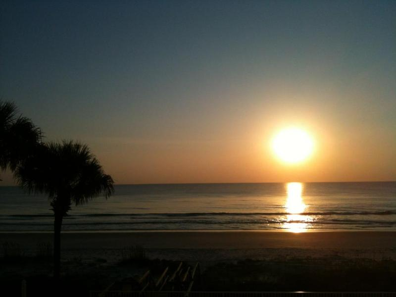 Good Morning! :)  View from master bedroom and the balcony! - Oceanfront!  Newly Renovated!  Snowbirds Welcome! - Ponce Inlet - rentals