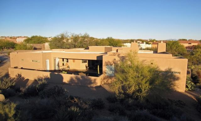 Exterior W/Pool Facing Afternoon Sun - Spectacular Contemporary with Heated Pool - Scottsdale - rentals