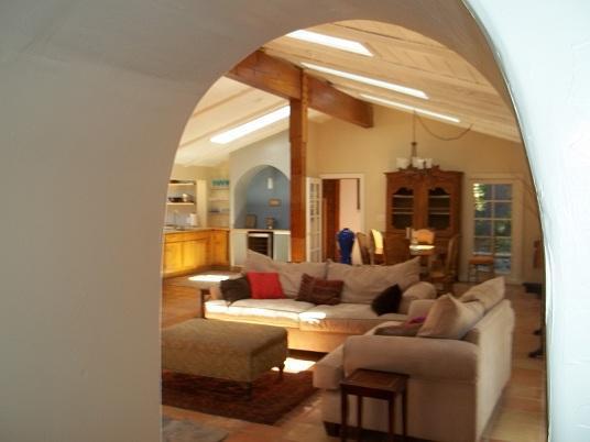 Living room Very open floor plan - La Casita - Amazing Spanish Style Home w/ Hot Tub - Idyllwild - rentals