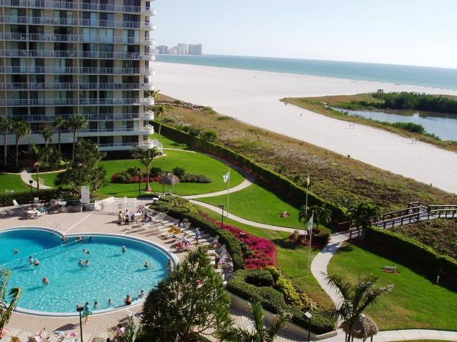 View of Beach from Balcony - Marco Island South Seas Club  Beachfront Beauty - Marco Island - rentals
