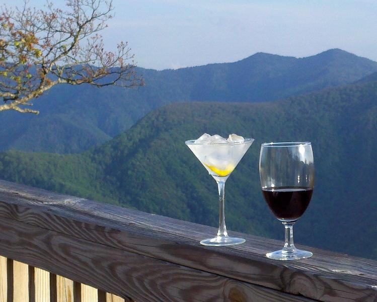 View to the south. Great place for happy hour! - Kiss the Sky - Maggie Valley - rentals