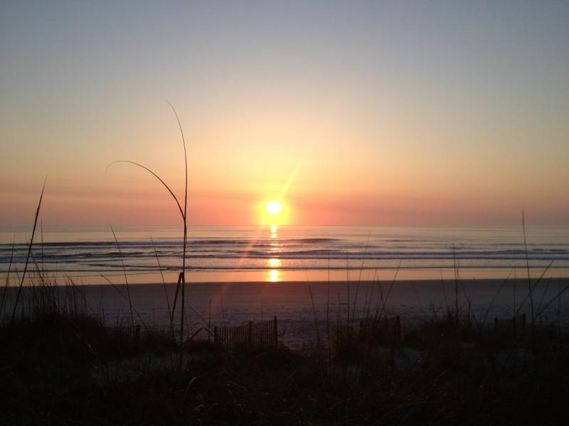 Sunrise from Deck - Sea Dunes DIRECT OCEANFRONT town home  pool tennis - New Smyrna Beach - rentals
