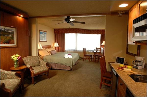 Studio Unit Includes a King Bed, Murphy Bed, and a Kitchenette (Representative Unit) - Charming Grand Lodge Studio Unit - Great for Couples Traveling Together (1113) - Crested Butte - rentals