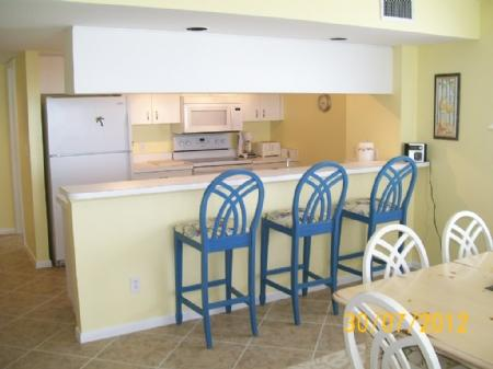 Clean Open Kitchen - Luxurious top floor unit with stunning Gulf views from the balcony! - Marco Island - rentals