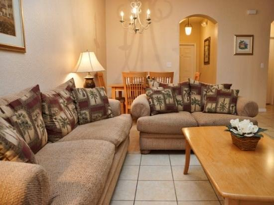 Living Area - RO4T2708CD 4 Bedroom Townhome near Disney And Other Theme Parks - Orlando - rentals