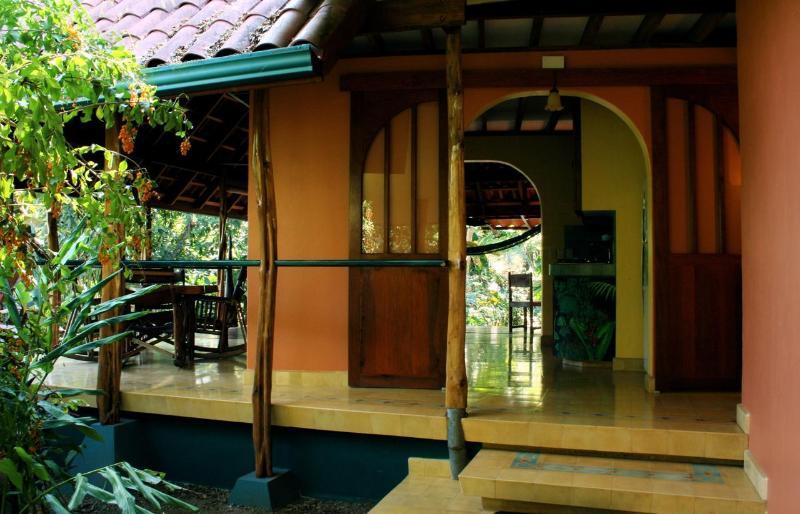 Main Entrance - Private Beach House at Beautiful Playa Los Cedros - Montezuma - rentals