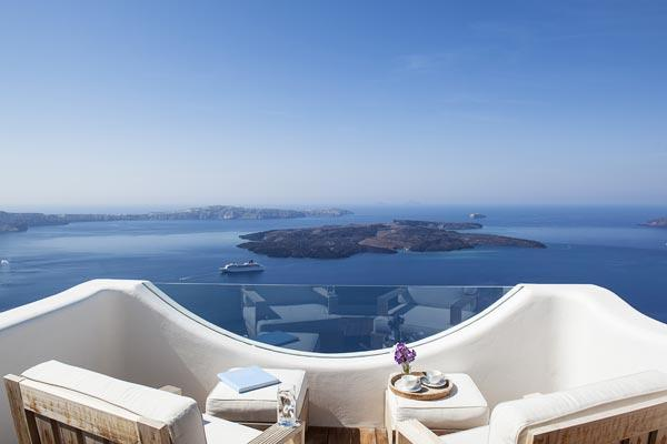 Located on the rim of a cliff in Imerovigli, Santorini. MED ECO - Image 1 - Santorini - rentals