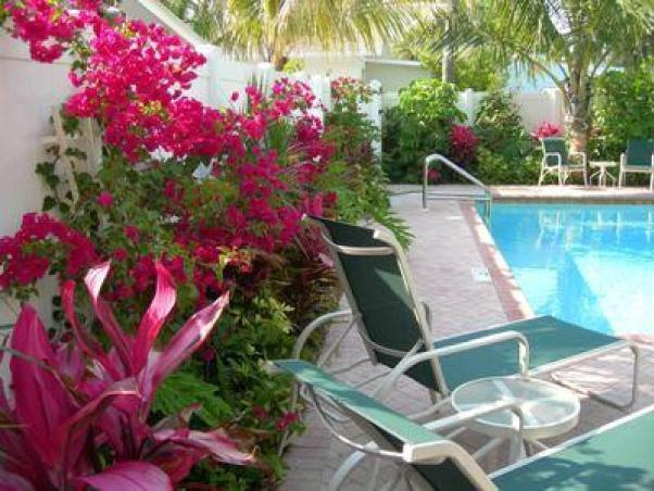 A lush tropical setting for relaxing and enjoying the gulf breeze. - FANTASTIC VALUE! 2 Bedrooms, Heated Pool! Steps to the beach! - Holmes Beach - rentals