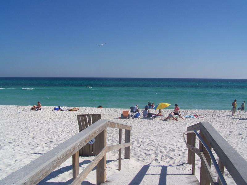 Gulf Beach from Boardwalk at end our Street -You have arrived!! - Private Home-Beach Escape Avail 8/2-7! Call! - Pensacola Beach - rentals