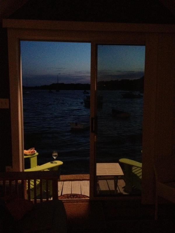 Deck in the evening - Chatham 1 Bedroom Beachfront Old Village - Chatham - rentals