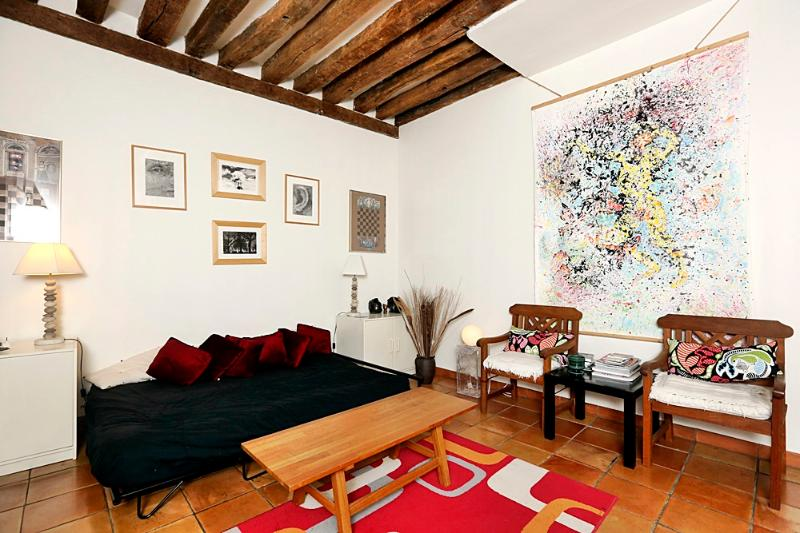 Living room - Decorated with love 1 BR Montorg-P2 - Paris - rentals