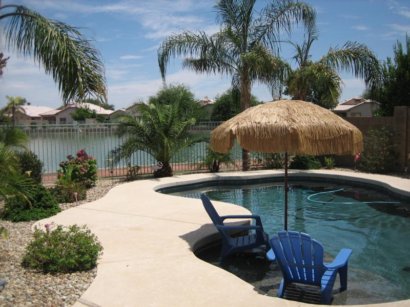 Waterfront View from Pool - Beautiful Lake Oasis 4 bedroom/3 bath Private Home - Avondale - rentals
