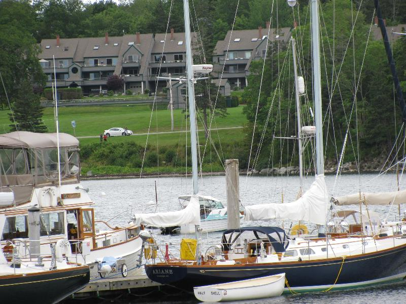 Outside view from Great Harbor Marina - Mermaid's Watch Western Way Townhouse - Southwest Harbor - rentals