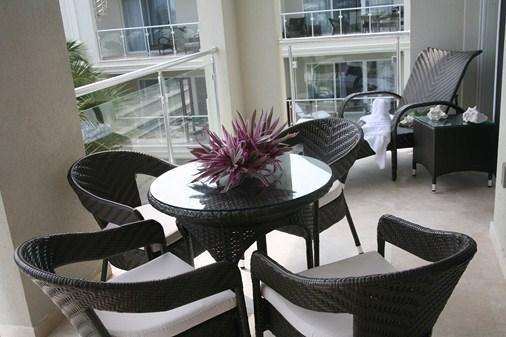 Fully furnished lower level balcony - Luxury 2 BDRM/2 bathroom penthouse, Atrium Resort - Providenciales - rentals