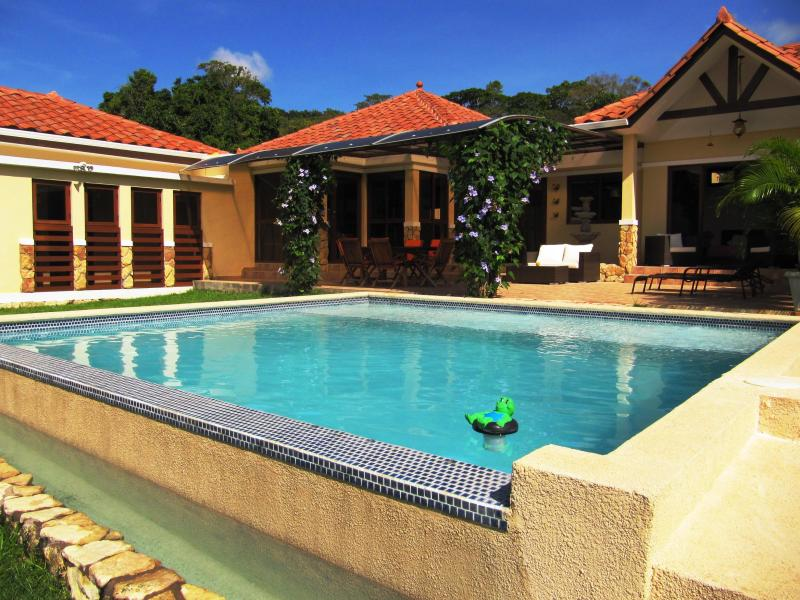 View to the terrace and swimming-pool - Gorgeous Mountain Villa – 50 mn from Panama City - Capira - rentals