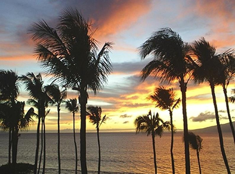 Sunset from our lanai. - Papakea Resort, Unit G-407 - Ka'anapali - rentals