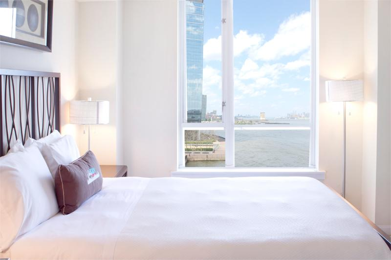 Bedroom - Sky City at The Harbor - 1-bedroom with private balcony! - Jersey City - rentals