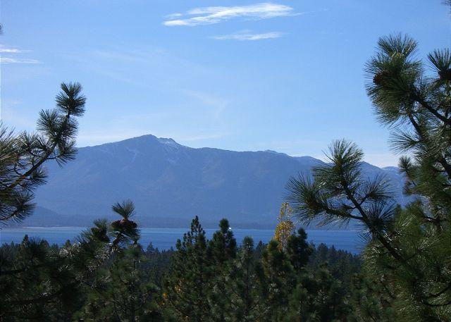 View from the upper deck - Lake Tahoe style town-home located in Lake Village resort (LV213) - Stateline - rentals
