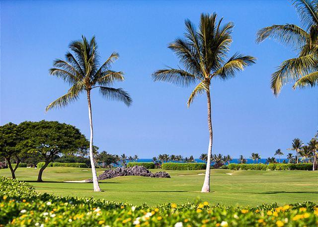 View from Lanai - Ocean View Fairway Villa with designer touches! - Kailua-Kona - rentals