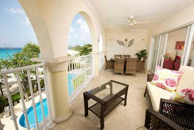 Sapphire Beach 307 at Dover Beach, Barbados - Beachfront, Gated Community, Communal Pool - Image 1 - Christ Church - rentals