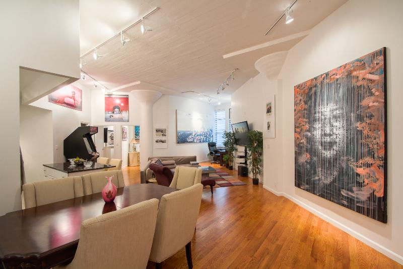 Living Room Front - Soho Art Gallery Massive Luxurious 2 Bedroom Loft - New York City - rentals