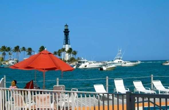 Your view - LIGHTHOUSE VIEW!!   Waterfront Studio Pompano Bch - Pompano Beach - rentals