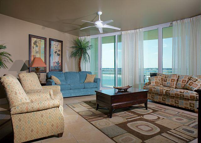 Living Area - Caribe Resort - As low as $699/wk All Inclusive Starting 11/29/15-12/21/15 - Orange Beach - rentals